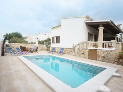 Photo for Villa with pool + garden + Wi-Fi + BBQ 100 meters from the sea