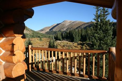 View from the wrap around porch.  Amazing! There is no other cabin like this one