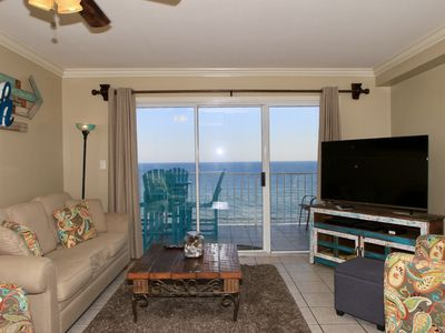 Photo for Stunning View - Gulf Front Corner Condo - Family Fun - White Sandy Beach