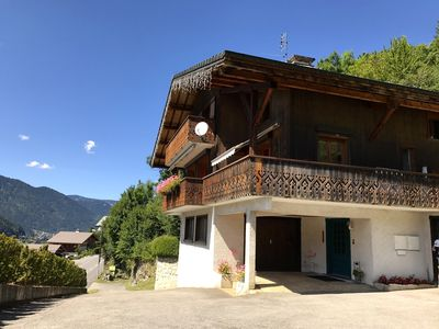 Photo for Morzine apartment 2 to 3 people full south adherent multi-pass.