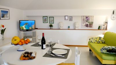 Photo for Large apartment on the sea in Santa Tecla, private beach
