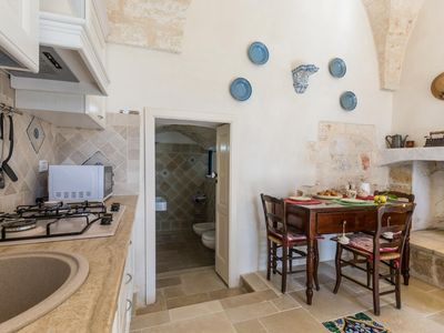 Photo for Comfortable apartment surrounded by fantastic ancient olive trees a few km from the historic center and the sea of Ostuni.