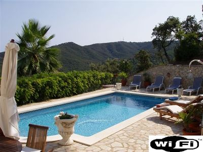 Photo for Lovely private villa ,not overlooked, stunning views , and fast wifi to poolside