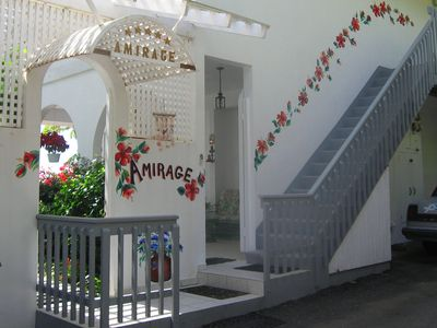 Amirage Entrance -with Caribbean View on Entry