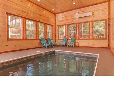 Photo for Luxury 5 bedroom 5.5 bathroom log cabin with  pool in Pigeon Forge Resort