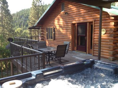 Enjoy the hot tub or relax on the deck with a different view every direction.