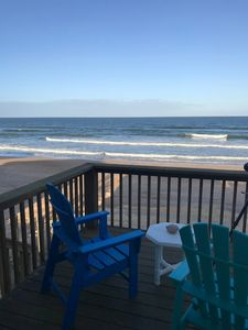 Photo for OCEAN FRONT HOUSE steps to the beach! Completely fenced in!