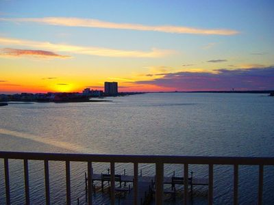 Photo for MUSIC FEST OPENING. ROMANTIC WATERFRT Condo W/KNOCKOUT VIEWS! Steps to BEACH,