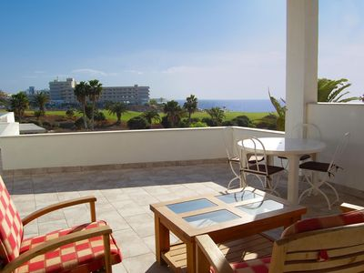 Photo for Unit 1 Amarilla Golf Villas - stunning 3 bed apartment- large terrace - sea view