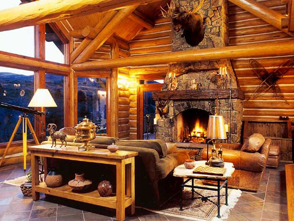 Luxury Log Home Rental Rates Reduced for VRBO