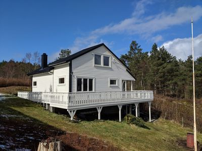 Holiday cottage with superb mountain & fjord views