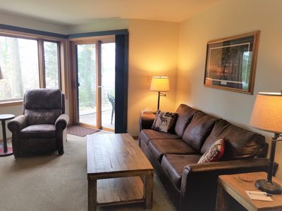 Photo for Updated Northwoods Condo - Prime Location on Lake Minocqua!
