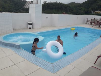Photo for New apartment overlooking the sea with pool;