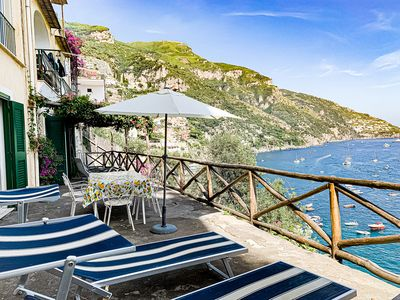 Photo for Casa Livia with Terrace and Sea View in Positano Center