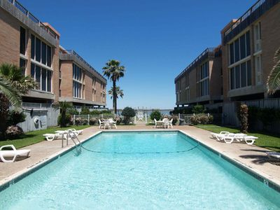 Photo for 1 bedroom 1 bath condo in the heart of Port Aransas! Ship Channel view!