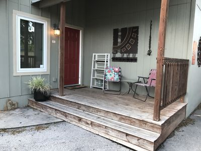 Front porch before improvements.
