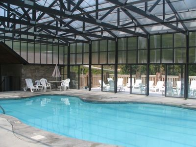 Enjoy the large heated and covered pool open all year long