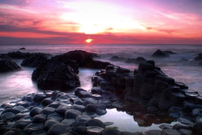 The Giant's Causeway is about 15 minute drive from Copperpot Cottage.
