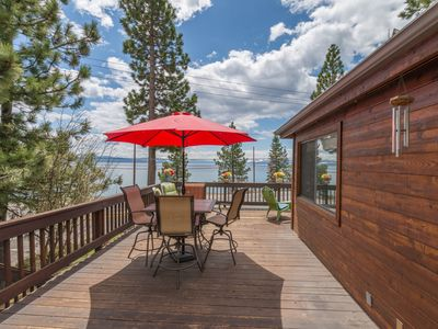 Photo for New Listing! LAKEVIEW and HOT TUB! Walk to Lake