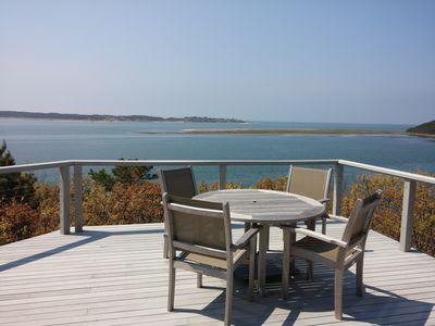 Photo for Contemporary home with stunning water views of Cape Cod Bay