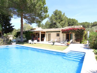 Photo for Secluded Country Villa, walk to village , secluded & close to the action