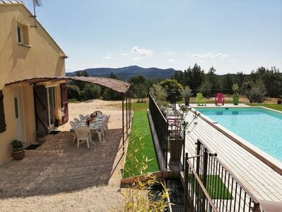 Photo for Villa private fenced pool 10x4. 5 on 3000 m2, CLIM, Wifi. No neighbors.