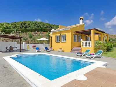 Photo for Beautifully located villa with a large pool and multiple sunbathing locations, close to resort