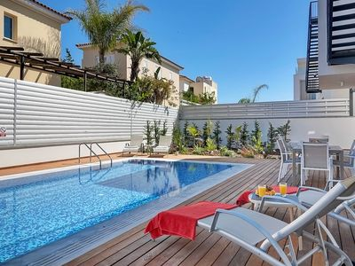 Photo for Permelia Villa - Amazing 3 Bedroom Luxury Villa with AC, Private Pool and Roof Terrace with Jacuzzi, 200 Meters from the Beach ! FREE WiFi