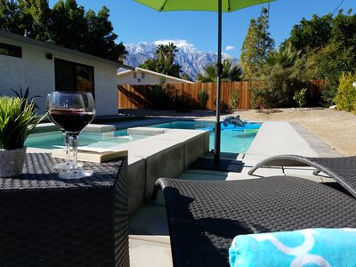 Photo for Unforgettable mountain view, gorgeous home with heated pool/spa, fire pit