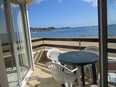 Photo for PERROS-GUIREC, T2, PANORAMIC SEA VIEW OF THE STAY, ROOM AND TERRACE