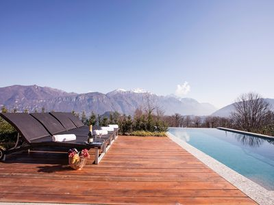 Photo for VILLA ROGARO. Sumptious pool villa for 12 with180 degree views of Bellagio.