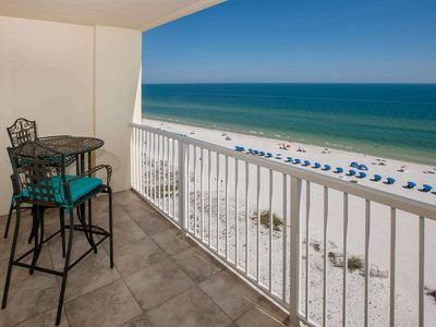 Photo for 10th Floor Gulf-Front in the heart of Gulf Shores | Outdoor pool, Wifi | Free golf, fishing and OWA