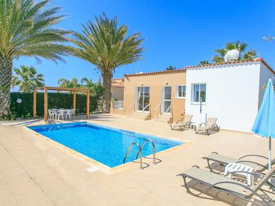 Photo for Villa Athina: Large Private Pool, Walk to Beach, Sea Views, A/C, WiFi, Car Not Required, Eco-Friendl