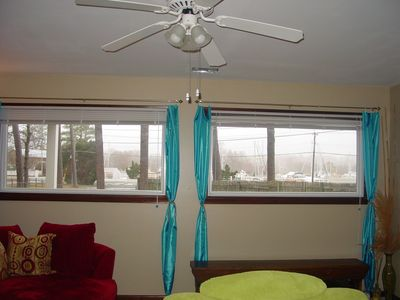Family room-view of harbor