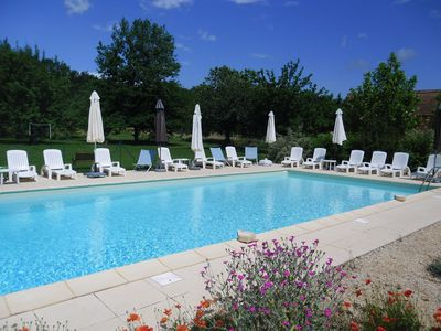 Photo for Looking out over pool and orchard, a perfect choice for family or friends grou