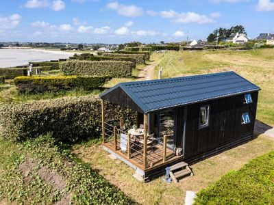 Photo for Camping Slow Village Breizh Légendes *** - Premium 3-room cabin 4 people Sea View