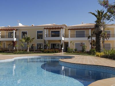 Photo for Stunning 2 bed apt with Wi-Fi a 5 minute walk from the beach of Porto de Mos