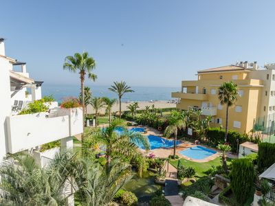 Photo for Frontline Beach Apartment - La Cala de Mijas; Arruzafa Playa II AP-4857
