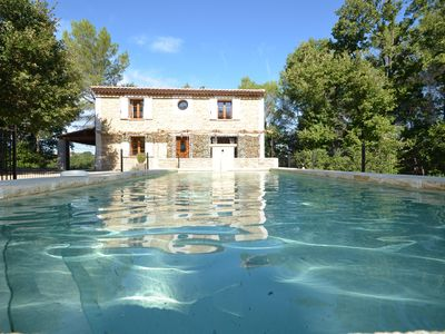 Photo for stone house, private pool, situated degagee view to wilderness calm