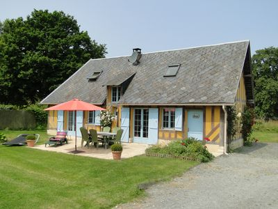 Photo for Cottage in the quiet of the countryside of the Pays d'Auge