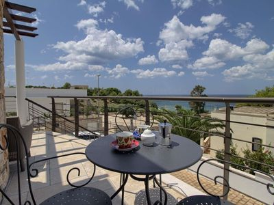 Photo for Greg Bay apartment in Marina San Gregorio with WiFi, air conditioning & private terrace.