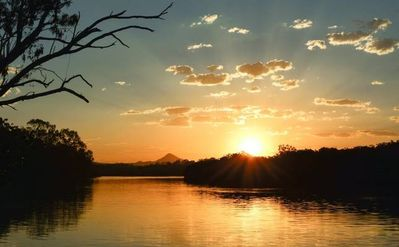 In front of house River looking to Mt Cooroy