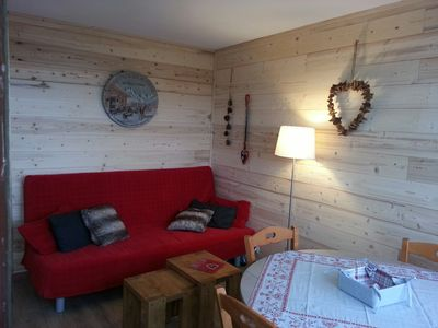 Photo for Apartment standing 4 people La Plagne Aime 2000 at the foot of the slopes