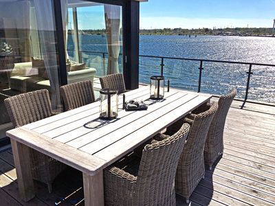 Photo for 5 star apartment with sauna, balcony & fantastic water view in Olpenitz!