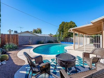 Photo for An oasis in the desert close to Old Town Scottsdale + heated pool