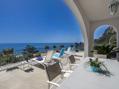Photo for Sirenuse Villa, Sleeps 8 with Pool, Air Con and WiFi