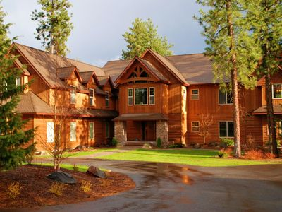 Photo for Elegant 7000 s/f Waterfront home on 5 Forested Acres CDA LakeRiver