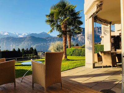 Photo for House on Lake Lucerne. Amazing view, 5 bedrooms & gardens
