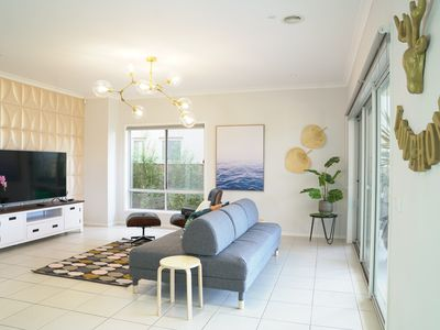Photo for Waterfront 6BRM Villa in Heart of Sancturay Lakes