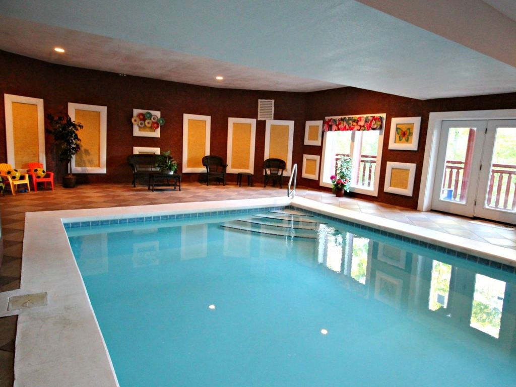 Private indoor pool  Perfect Family Getaway! Private Indoor... - HomeAway Cosby